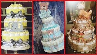 Beautiful Diaper Cakes Ideas For Baby Girls & Boys,Diaper Cake For Mother To Be