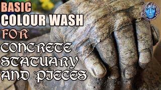 Basic Colour Wash For Concrete Statuary & Pieces