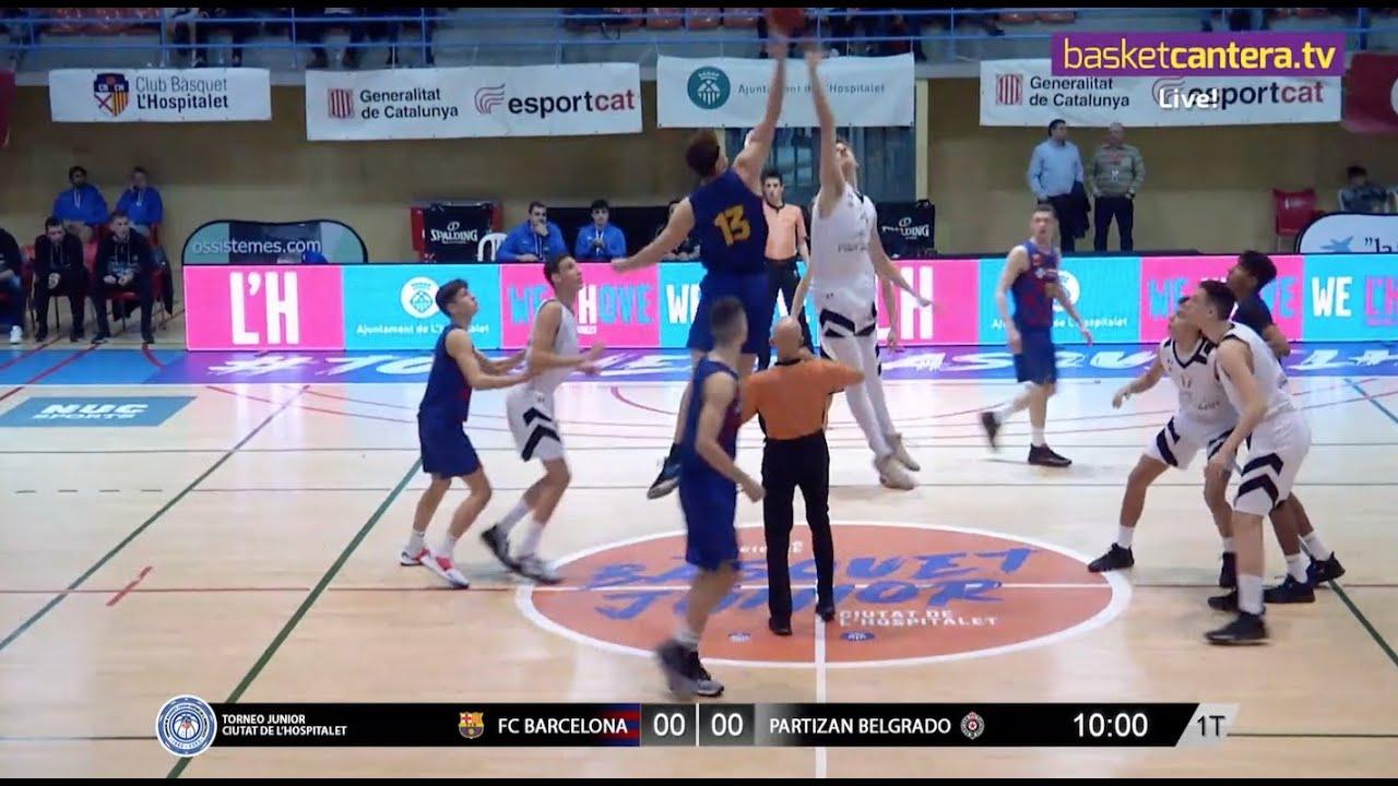 U18M - FC BARCELONA vs PARTIZAN BELGRADO.- Torneo Infantil L´Hospitalet 2020 (BasketCantera.TV)