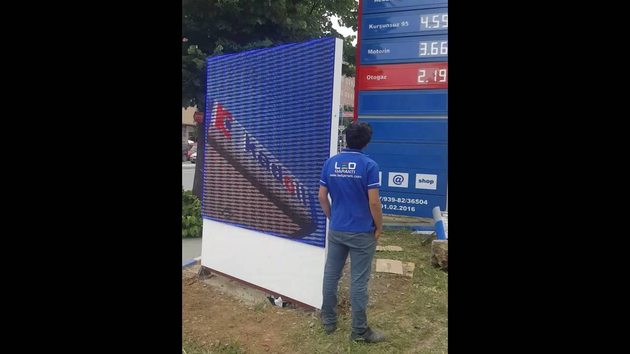 Benzin İstasyon Led Ekran Projesi