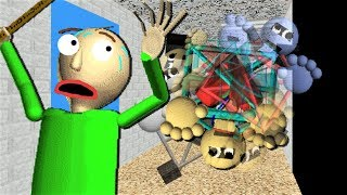 1ST PRIZE IS OUT OF CONTROL AND TURNS UPSIDE DOWN!! | Baldi's Basics Mod: Hard Modified