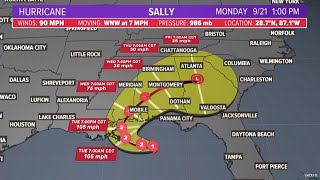 Hurricane Sally now a category 2 storm: Check track and timing for landfall