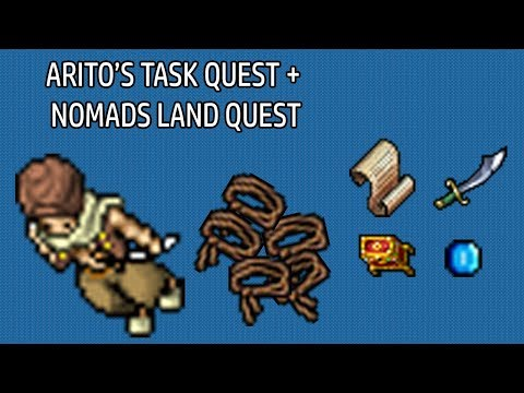 [TIBIA] Arito's Task + Nomads Land (Local para farmar rope belts) – All voc lvl 20+