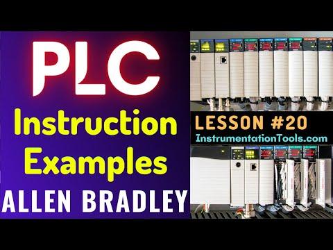PLC Training 20 - Instruction Examples in PLC | RSLogix 500 ...