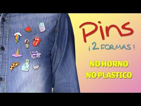 DIY - Crea FANTÁSTICOS PINS de 2 MANERAS diferentes ¡¡SIN Horno ni Plástico!! ☞ Pins Súper Fácil