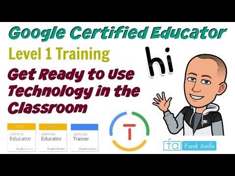 Google Certified Educator Level 1 Unit 1: Training Course - YouTube