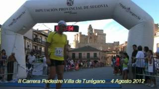preview picture of video 'II Carrera Pedestre Villa de Turégano. Llegadas tiempos 0:44:46 a 0:56:28'