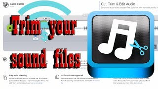 How To Trim Your Sound Files With Mp3cut - Trim Sound Files Online