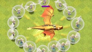 "IMMORTAL ATTACK vs. DRAGON GOD!! ""Clash Of Clans"" THIS DRAGON WON'T DIE!!!"