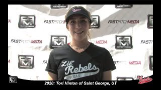 2020 Tori Hinton Catcher and Third Base Softball Skills Video - Lil Rebels