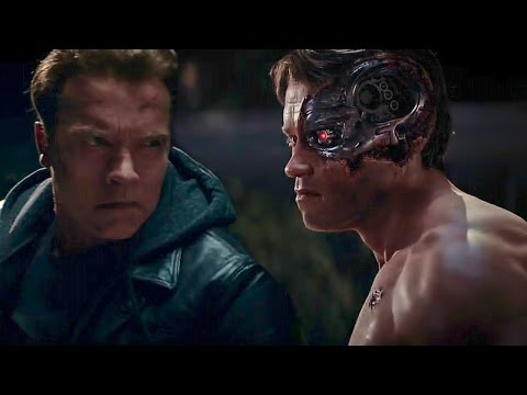 Terminator Genisys | Old vs Young Arnold Fight | Arnold Schwarzenegger : I've Been Waiting For You
