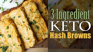 Easy Cauliflower Hash Browns   3 Ingredients   Keto   Low Carb
