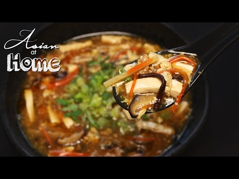 Hot and sour soup  (4 servings)