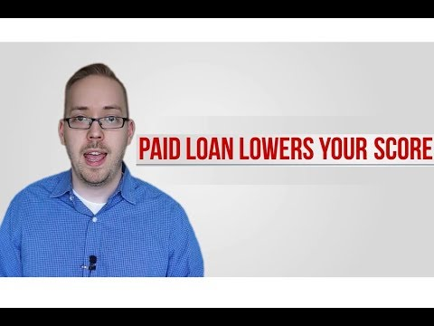 Paid Loans Lower your Score