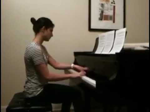 Here is an example from 2011 when I played a modern piece by Nico Muhly.