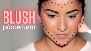 How To IDENTIFY Your FACE SHAPE For BLUSH PLACEMENT | Beginner Friendly Tutorial