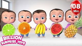 Learn Fruits with Five Little Babies | Kids Songs - Nursery Rhymes for Babies