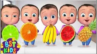 Five Little Babies Eating Fruits | + More Kids Songs | Billion Surprise Toys