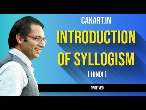 Introduction of Syllogism by Prof Ved