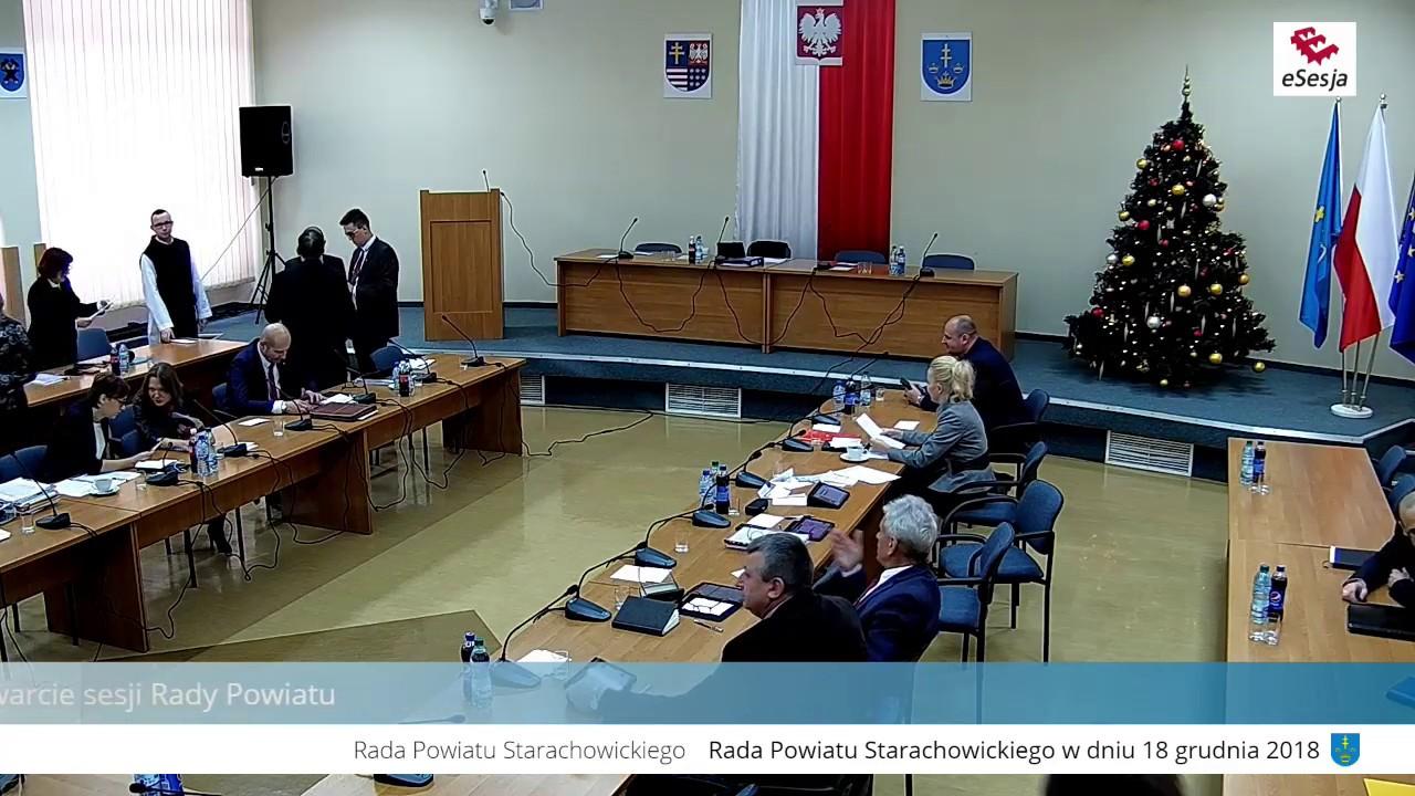 III Sesja Rady Powiatu w Starachowicach 18.12.2018r.