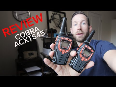 REVIEW: Cobra ACXT545 Walkie Talkies