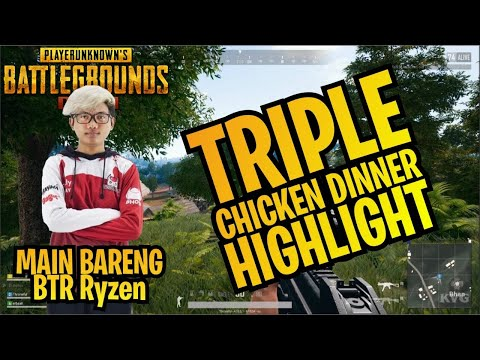 MAIN BARENG BTR RYZEN, Gameplay, Triple Chicken Highlight #PUBGM4
