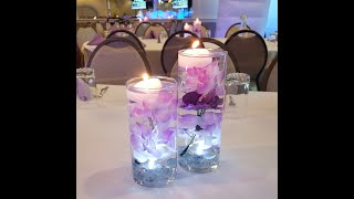 DIY Dollar Tree Flower Centerpieces With Floating Candles