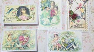МК и обзор моих работ / Мастер-класс создания мини-открыток на примере валентинок