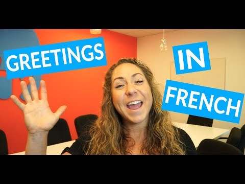 Teaching French greetings in a group class for Take Lessons Live.