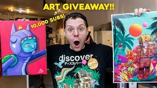 10,000 Subscribers Celebration!  ART GIVEAWAY!