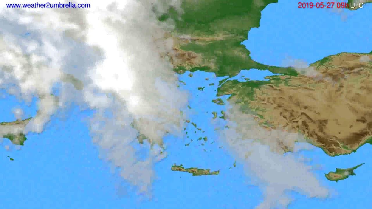 Cloud forecast Greece // modelrun: 12h UTC 2019-05-25