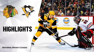 NHL Highlights | Blackhawks @ Penguins 11/09/19