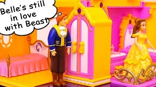 Belle Misses Beast & Adam is Jealous of Himself - Polly Pocket Beauty and the Beast Toys and Dolls