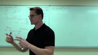 Calculus 1 Lecture 3.7:  Optimization; Max/Min Application Problems
