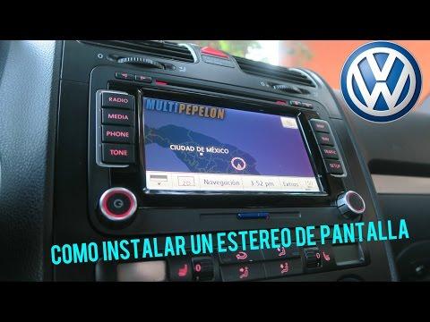 COMO INSTALAR ESTÉREO DE PANTALLA EN BORA O GTI MK5 / CAR AUDIO  VW
