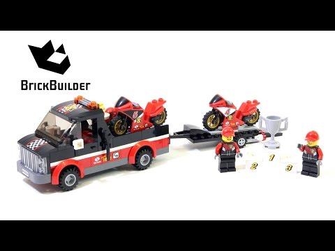 Vidéo LEGO City 60084 : Le transporteur de motos de course