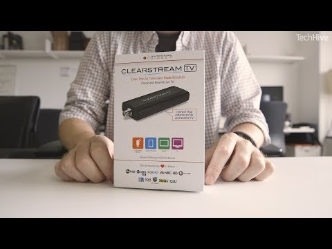 Clear Stream TV OTA digital tuner unboxing