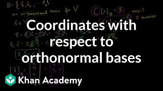 Linear Algebra: Coordinates with respect to orthonormal bases