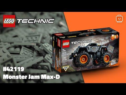 Vidéo LEGO Technic 42119 : Monster Jam Max-D