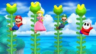 Mario Party 9 Step It Up - Mario vs Luigi vs Peach vs Shy Guy Master Difficulty  Cartoons Mee