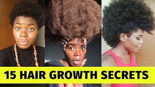 HOW I GREW MY 4C NATURAL HAIR Fast and Long|| Grow Healthy 4C Hair 2020