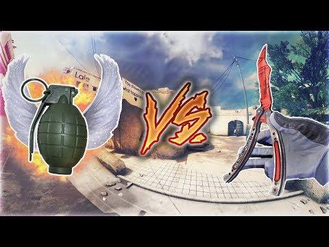 BIÇAK VS BOMBA ÇOK EĞLENCELİ OLDU !! (CS:GO)