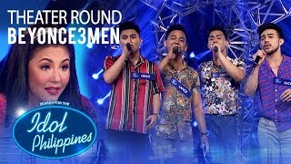 """Beyonce3men sings """"I'll Make Love To You"""" at Theater Round 