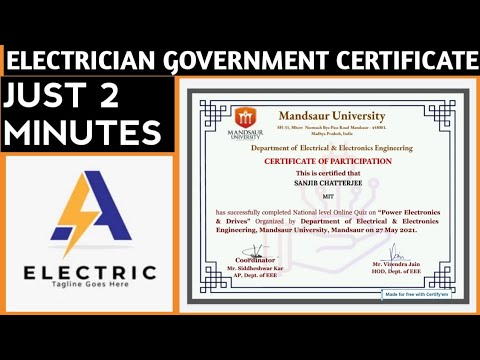 Free Electrical & Electronics Certificate Course | Free Certificate ...