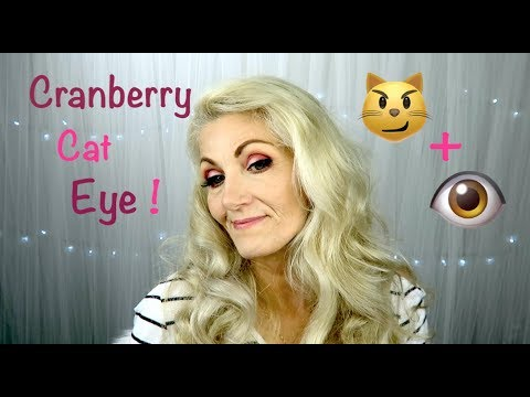 Cranberry Cat Eye Tutorial For Mature Eyes - BentlyK