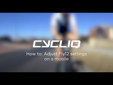 How to adjust Fly12 settings on a mobile