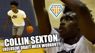 CLEVELAND CAVALIER Collin Sexton DRAFT WEEK Workout!! | YOUNGBULL is READY FOR SUMMER LEAGUE