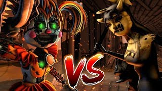 """[SFM/FNAF VS BATIM] SCRAP BABY VS BENDY AND THE INK MACHINE CHAPTER 4 ALICE """"RISE OF THE NEW QUEEN"""""""