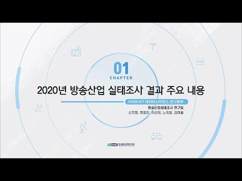 2020년 방송산업 실태조사 결과 주요 내용 동영상표지