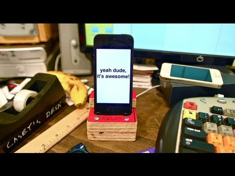 Build Your Own iPhone Dock For A Dollar